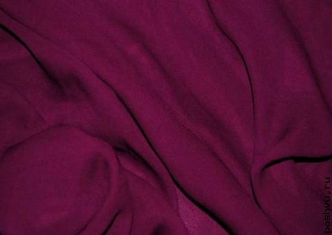Ткань шифон Бордовый