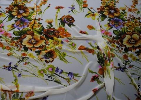 Ткань шифон Вальс цветов