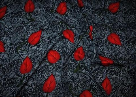 Ткань цветная Красный листопад