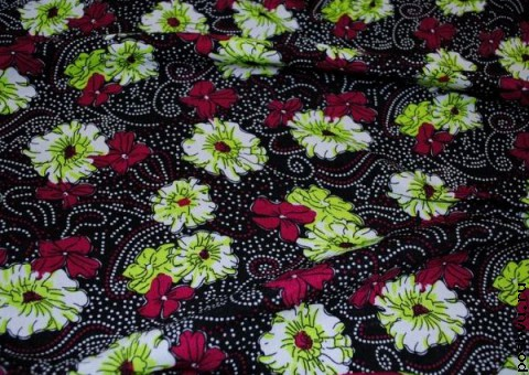 Ткань цветная Сказочный цветок