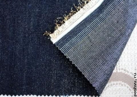 Ткань Джинсовая Индиго