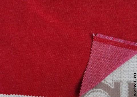 Ткань Джинсовая Красное полотно