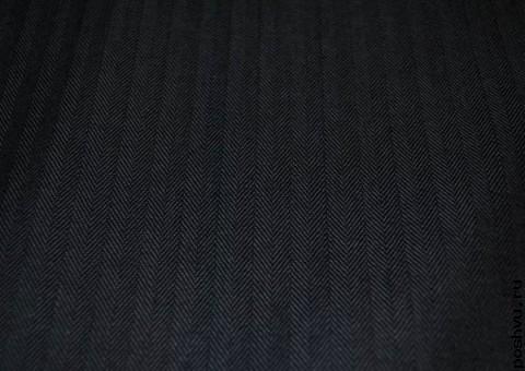 Ткань джинсовая с текстурой елочка