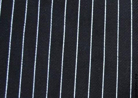 Ткань Джинсовая Тонкая полоска