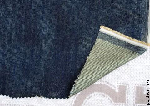 Ткань Джинсовая Застаренные джинсы