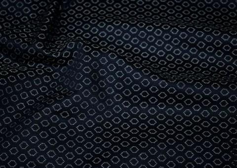 Ткань гобеленная черная Геометрические фигуры