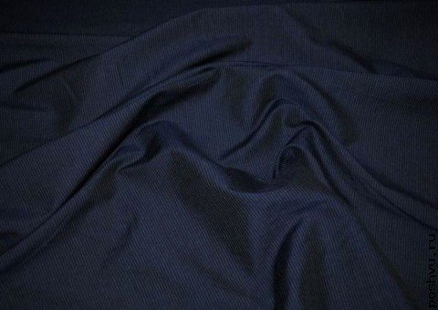 Ткань хлопковая Аспидно-синяя