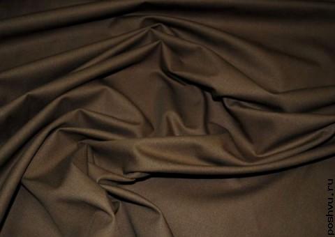 Ткань хлопковая Горький шоколад