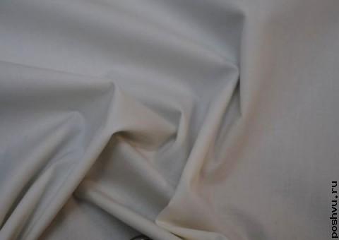 Ткань хлопковая Ромашково белая
