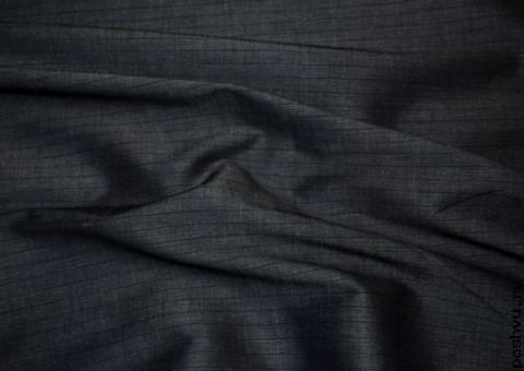 Ткань хлопковая со льном Угольная