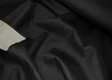 Ткань хлопковая Угольно-черный
