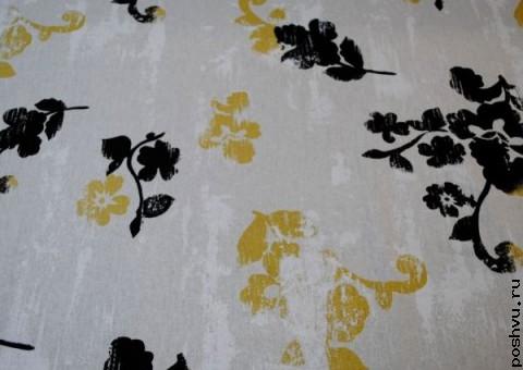 Ткань из льна Русские мотивы
