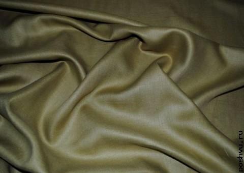 Ткань льняная болотного цвета