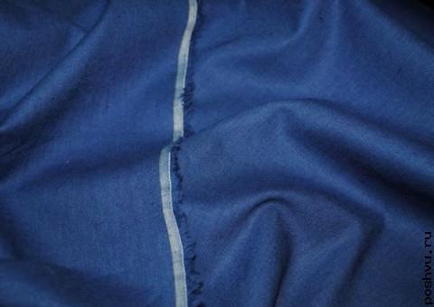 Ткань льняная джинсовое ретро