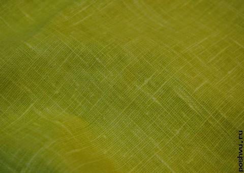 Ткань льняная Лимон и лайм