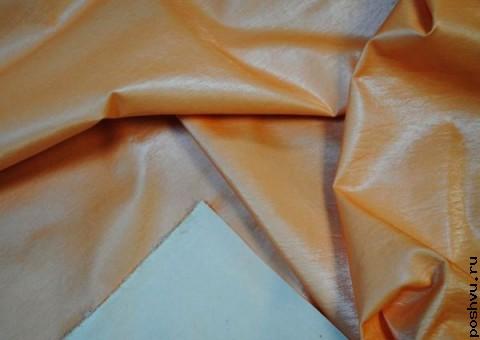 Ткань льняная Персик