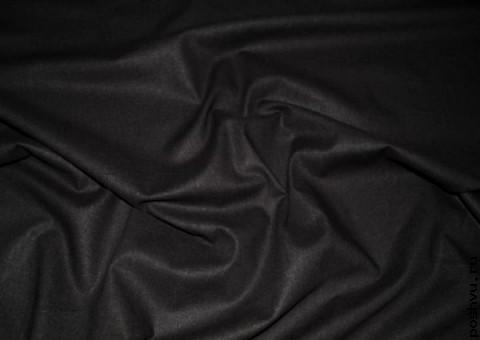 Ткань льняная Сигнальный черный