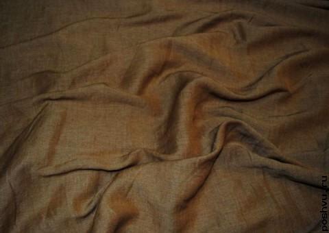 Ткань льняная Соломенная