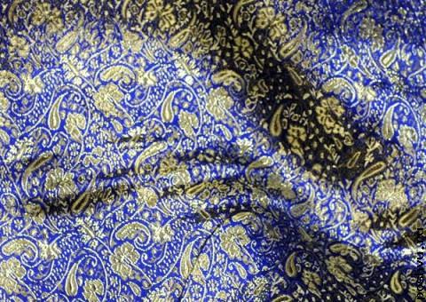 Ткань парчовая Золотая роспись моря