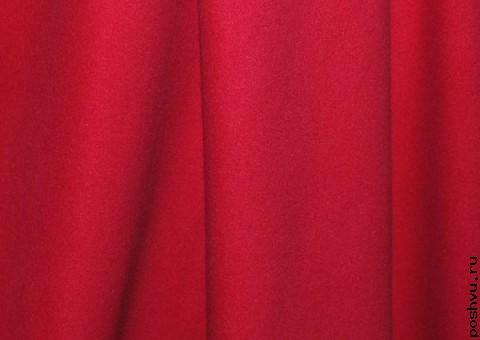 Ткань шерстяная красная Бургундское вино