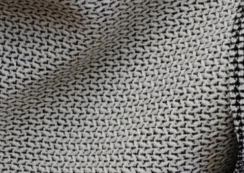 Ткань шерстяная с узором Белые стежки