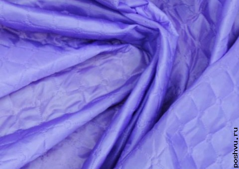 Ткань стеганая для подклади Сиреневый туман