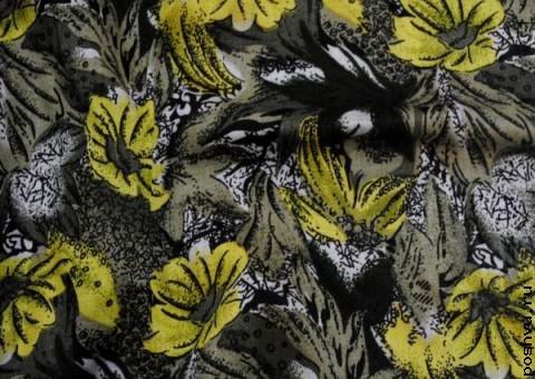 Ткань узорная Маки на заре