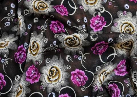 Ткань узорная Роза Азора