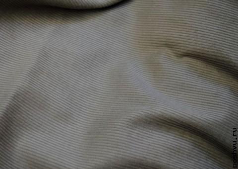 Ткань вельветовая рифленая Первый снег