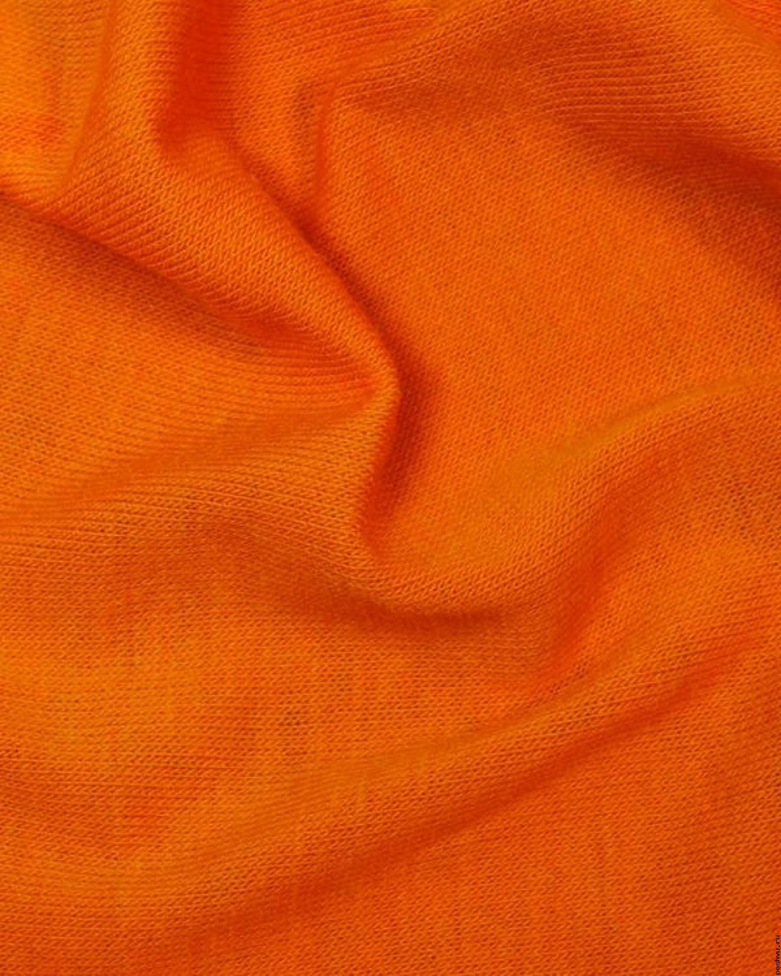 Трикотаж масло оранжевый ткани кутюр купить