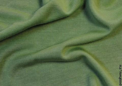 Трикотажная ткань Салатная