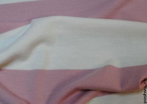 Трикотажная ткань в полоску Нежность