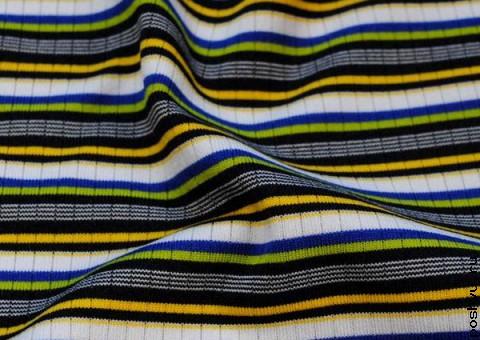 Трикотажная ткань Яркие полоски