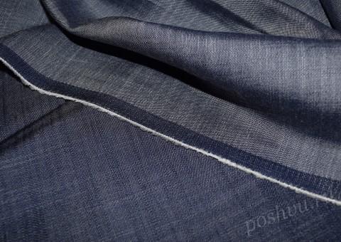 Ткань Джинсовая Голубой вечер