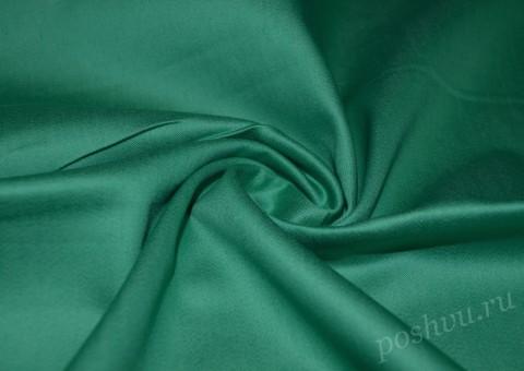 Ткань Джинсовая зеленого цвета