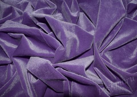 Ткань бархат стрейч Амарантового оттенка