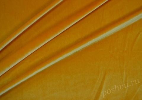 Ткань бархатная Мягкое золото