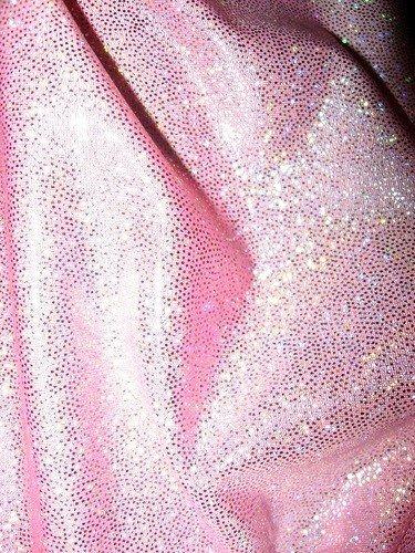 Ткань диско с блестками Розовый рай