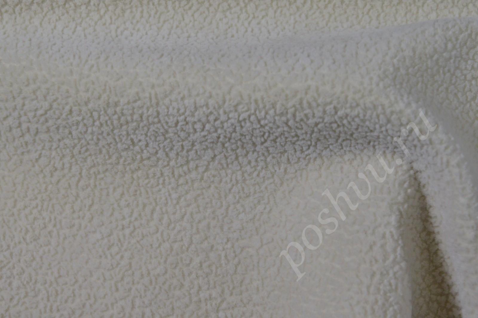флок ткань для мебели белый
