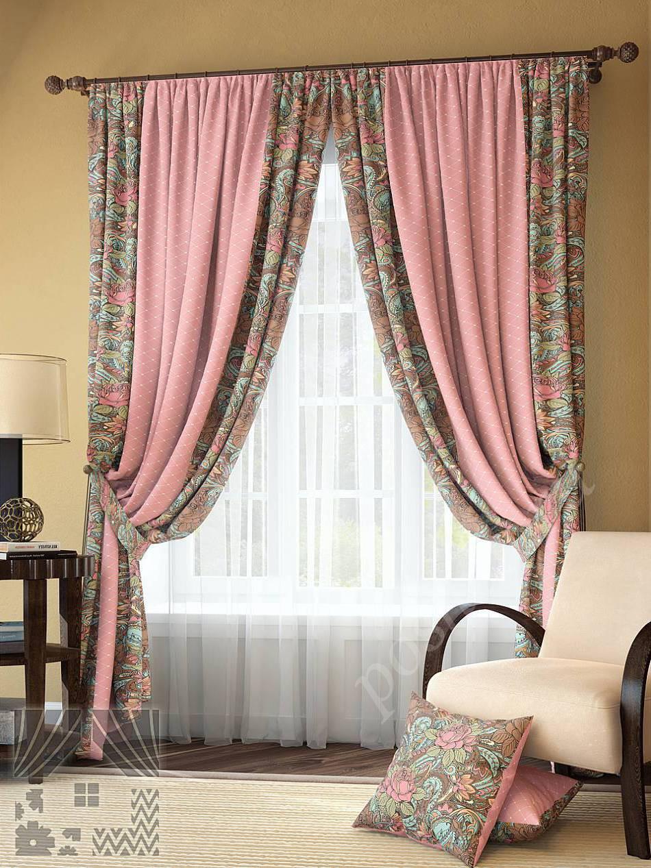 Шторы для розовой спальни