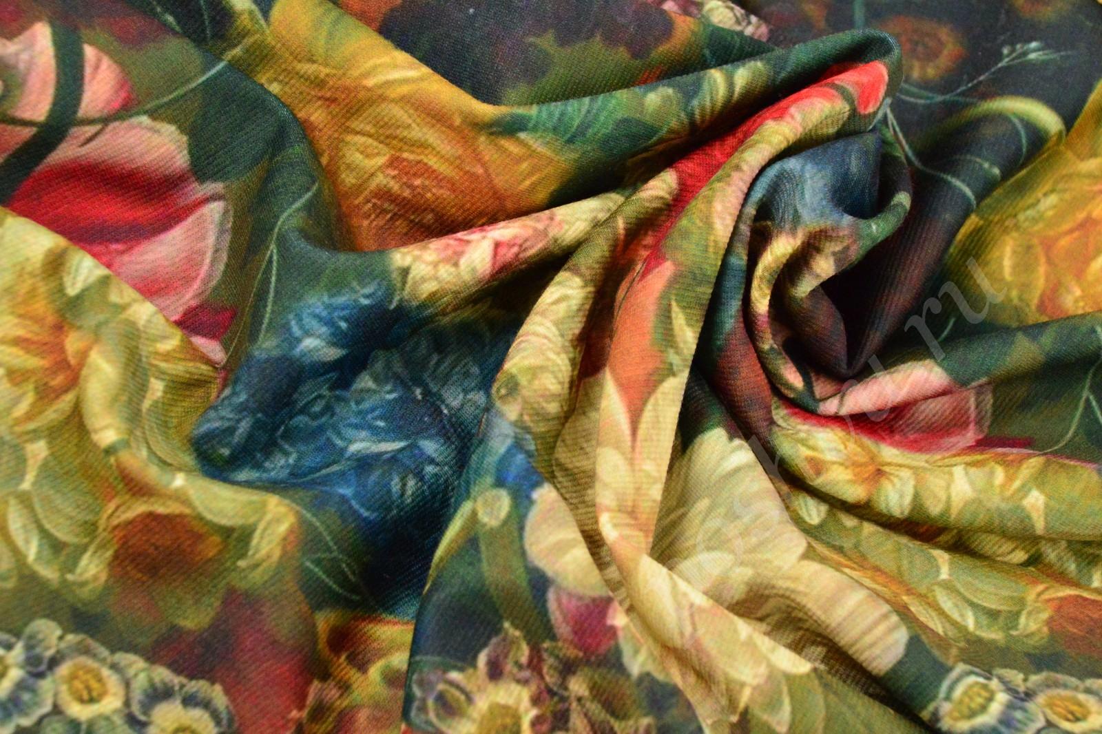 Ткани трикотажные с цветочным принтом уфа оптом
