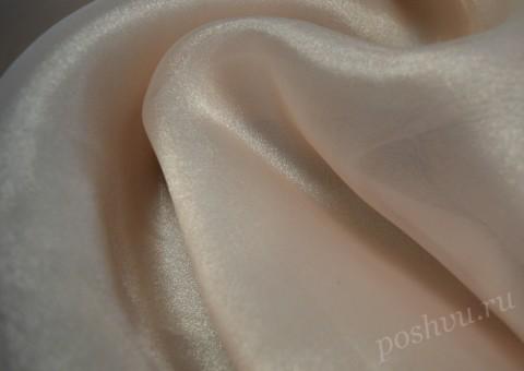 Ткань органза нежно-розовая