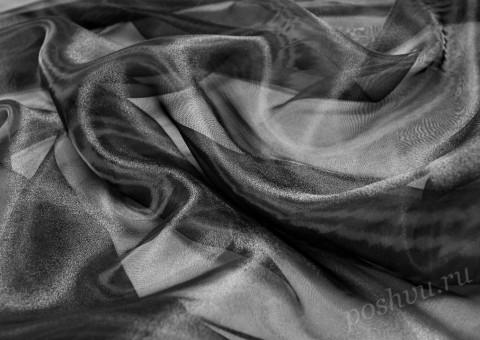 Органза  Черного цвета