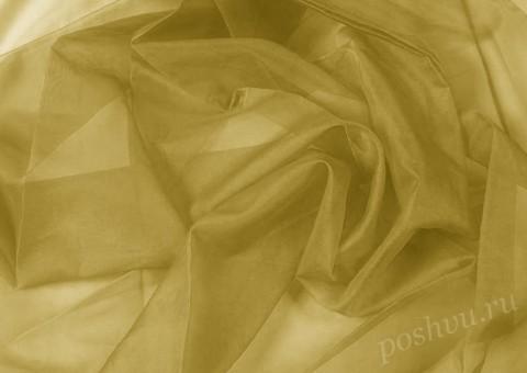 Ткань органза оливкового оттенка