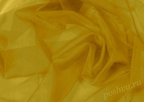 Ткань органза Желтого оттенка
