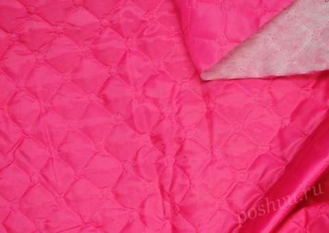 Ткань стеганая для подклади Розовый взрыв