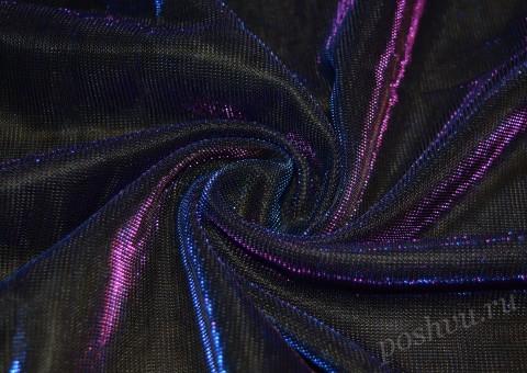 Сетка-стрейч с люрексом Фиолетового цвета
