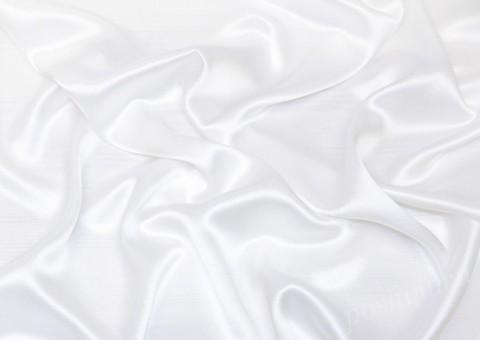 Ткань атласная плотная Белый вальс