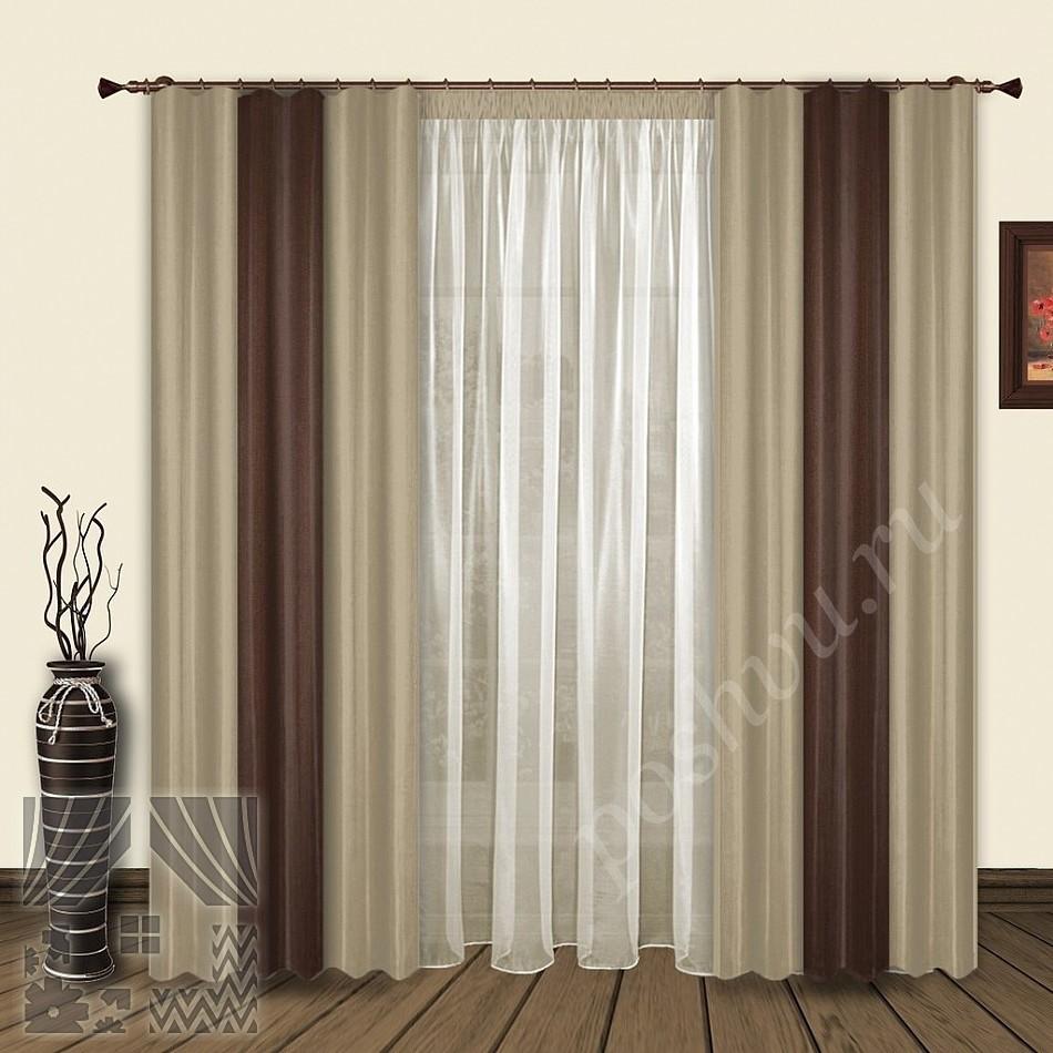 Бежево коричневые шторы