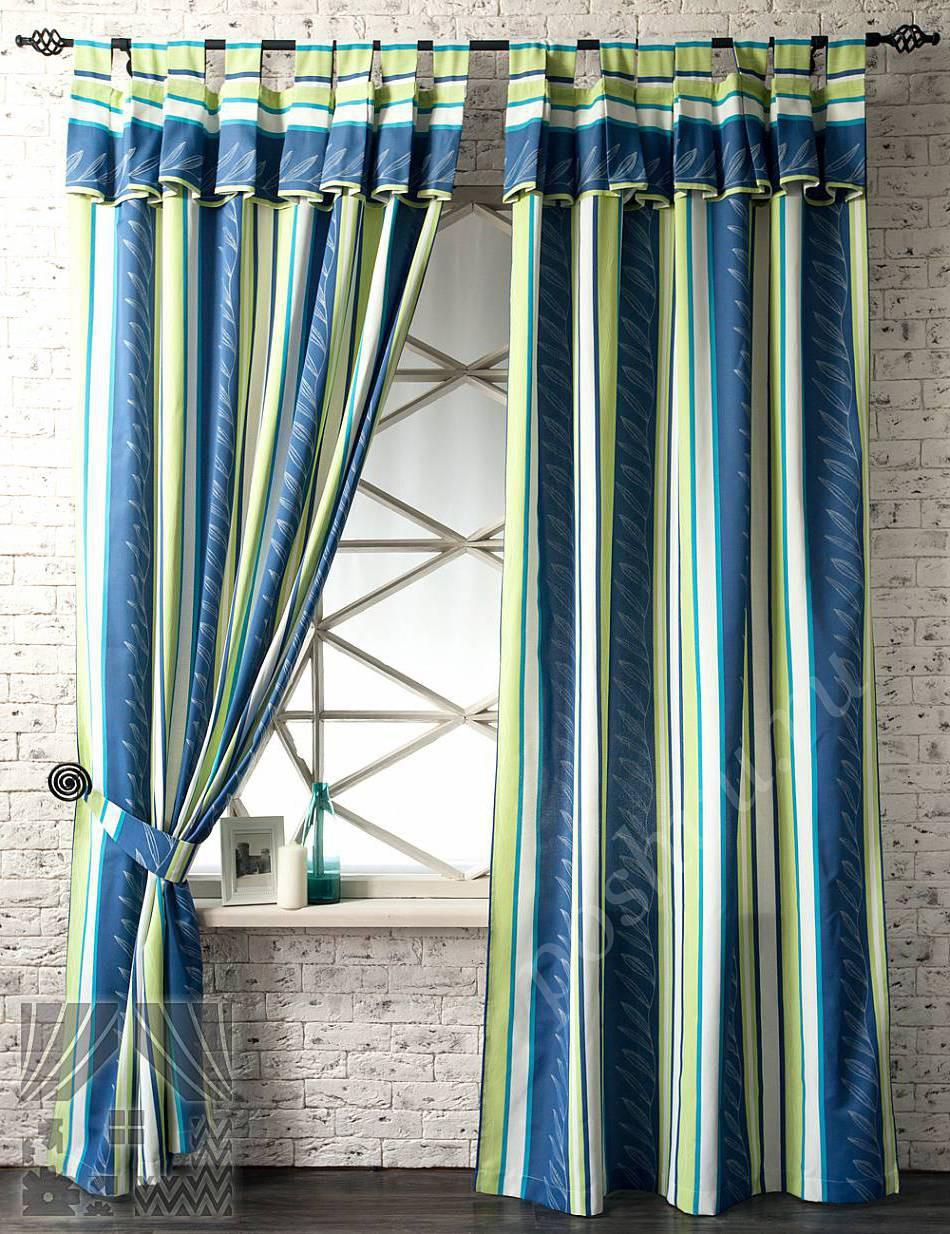 Дизайн укороченные шторы 188